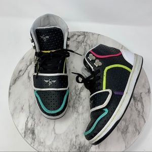 Creative Recreation Cesario neon rainbow hightop 7